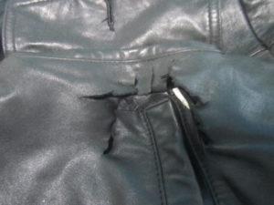 油脂不足による革の劣化